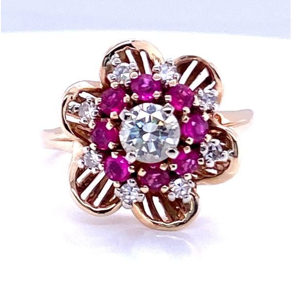 14K Yellow Gold Ruby and Diamond Cocktail Ring  Andrew Z Diamonds & Fine Jewelry Anthem, AZ