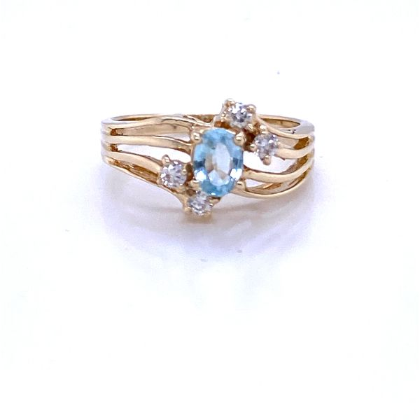 14K Yellow Gold Aquamarine and Diamond Ring  Andrew Z Diamonds & Fine Jewelry Anthem, AZ