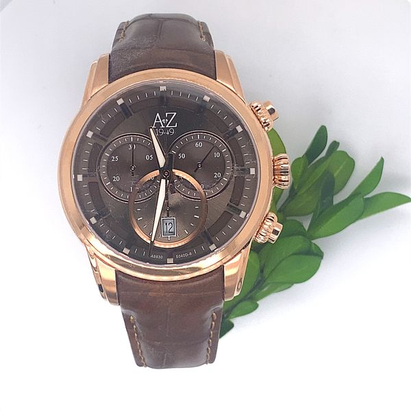 1949 Legacy Collection Mens Rose Gold and Brown Leather Watch Andrew Z Diamonds & Fine Jewelry Anthem, AZ