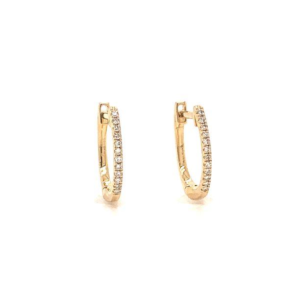 Oval Diamond Huggies Armentor Jewelers New Iberia, LA