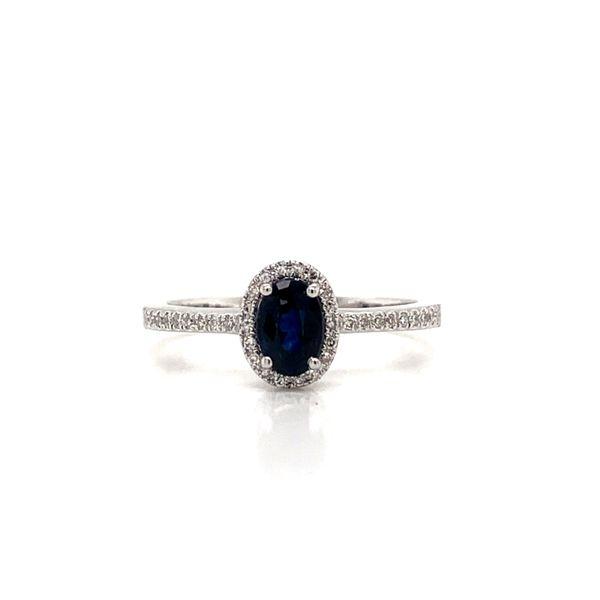 Oval Halo Sapphire Ring Armentor Jewelers New Iberia, LA
