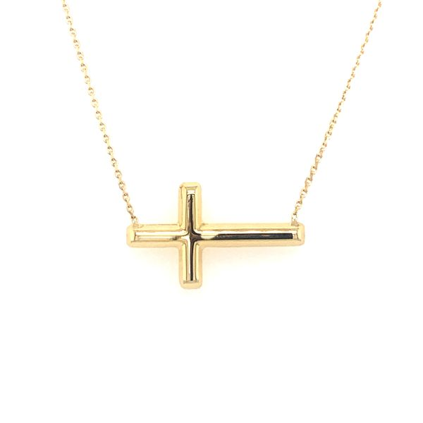 Sideways Cross Necklace Image 2 Armentor Jewelers New Iberia, LA