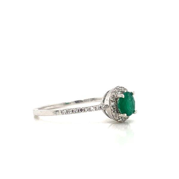 Round Emerald Halo Ring Image 2 Armentor Jewelers New Iberia, LA
