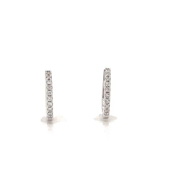 Round Diamond Huggies  Armentor Jewelers New Iberia, LA
