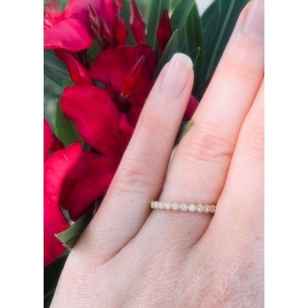 Round Diamond Milgrain Bezel Band Image 3 Armentor Jewelers New Iberia, LA