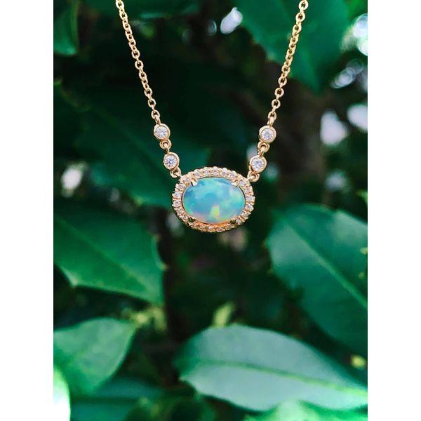 Opal and Diamond Necklace Armentor Jewelers New Iberia, LA