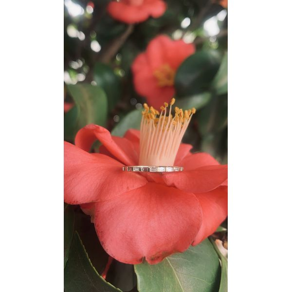 Baguette Diamond Band  Image 2 Armentor Jewelers New Iberia, LA