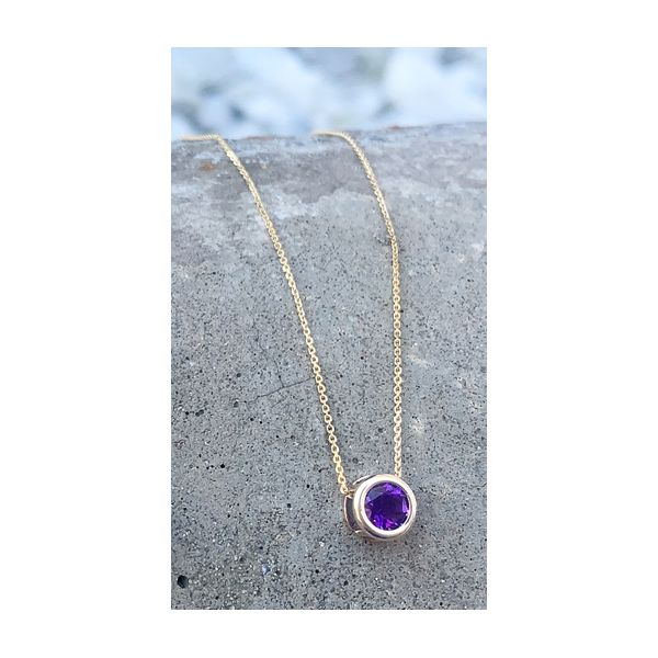 Amethyst Bezel Necklace Image 2 Armentor Jewelers New Iberia, LA