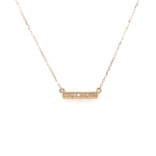 Mini Diamond Bar Necklace Armentor Jewelers New Iberia, LA