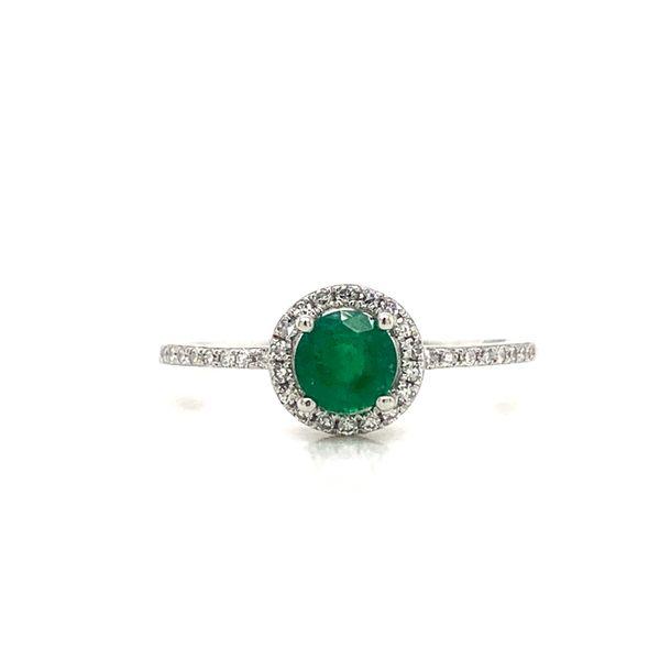 Round Emerald Halo Ring Armentor Jewelers New Iberia, LA