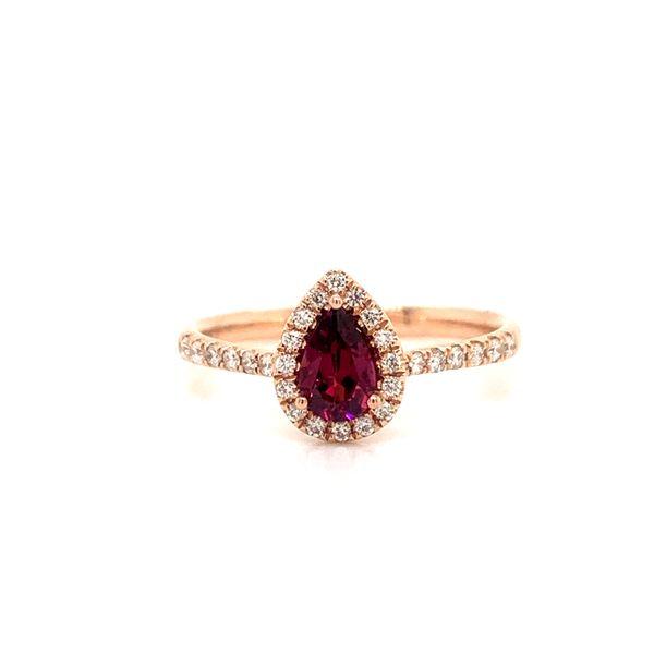 Pear Shape Garnet Halo Ring Armentor Jewelers New Iberia, LA