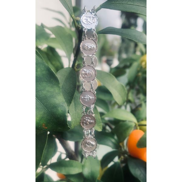 Sterling Silver Saints Bracelet Armentor Jewelers New Iberia, LA