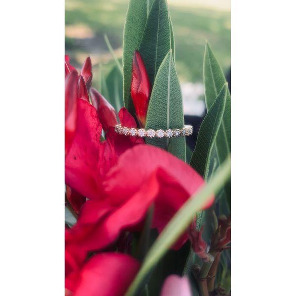 Round Diamond Milgrain Bezel Band Image 2 Armentor Jewelers New Iberia, LA