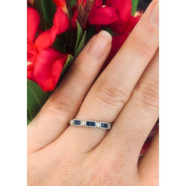 Sapphire And Diamond Band  Image 2 Armentor Jewelers New Iberia, LA