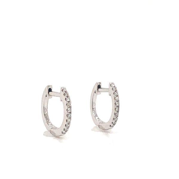 Round Diamond Huggies  Image 2 Armentor Jewelers New Iberia, LA
