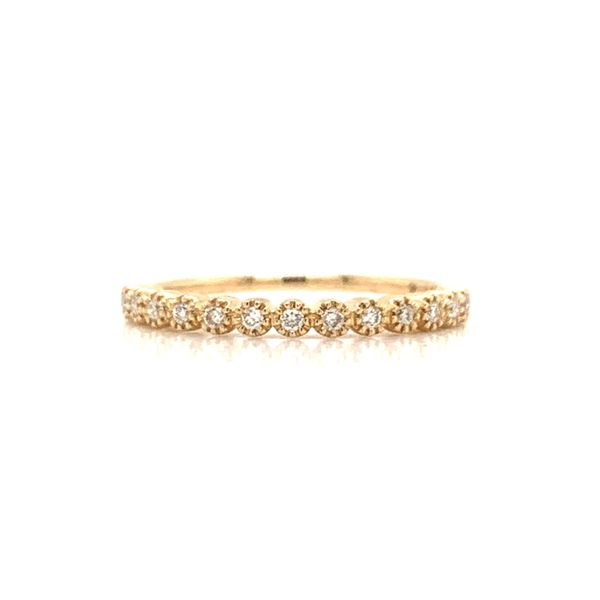 Round Diamond Milgrain Bezel Band Armentor Jewelers New Iberia, LA