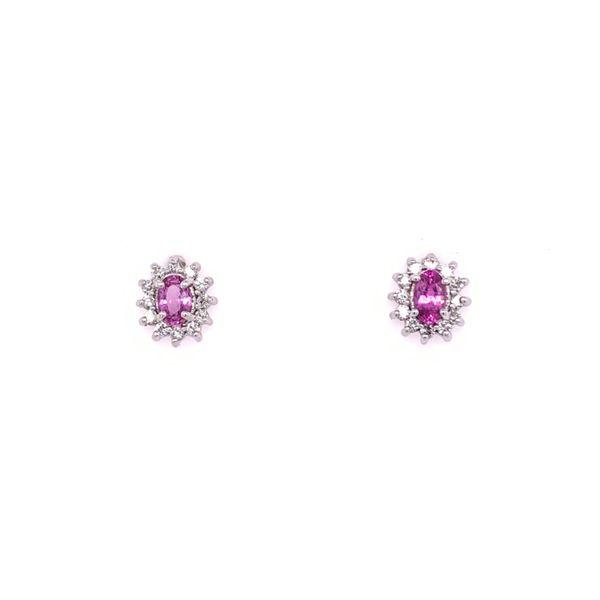 Pink Sapphire & Diamond Earrings Arthur's Jewelry Bedford, VA