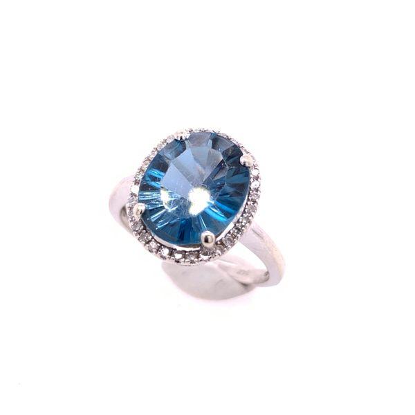 Blue Topaz & Diamond Ring Arthur's Jewelry Bedford, VA