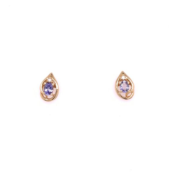 Tanzanite and Diamond Earrings Arthur's Jewelry Bedford, VA