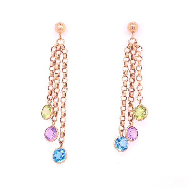 Colored Stone Drop Earrings  Arthur's Jewelry Bedford, VA