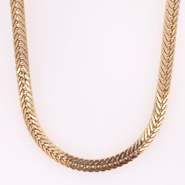 Yellow Gold Flexible Flat Chain Arthur's Jewelry Bedford, VA