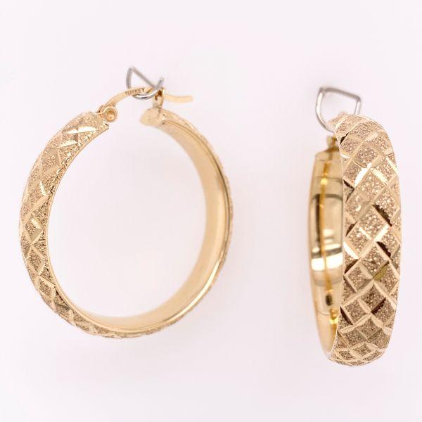 Diamond Cut Hoop Earrings  Arthur's Jewelry Bedford, VA