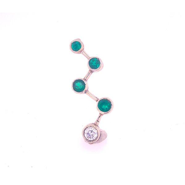 Emerald and Diamond Zig-Zag Pendant Arthur's Jewelry Bedford, VA