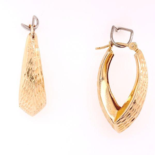 Textured Pointed Hoop Earrings Arthur's Jewelry Bedford, VA