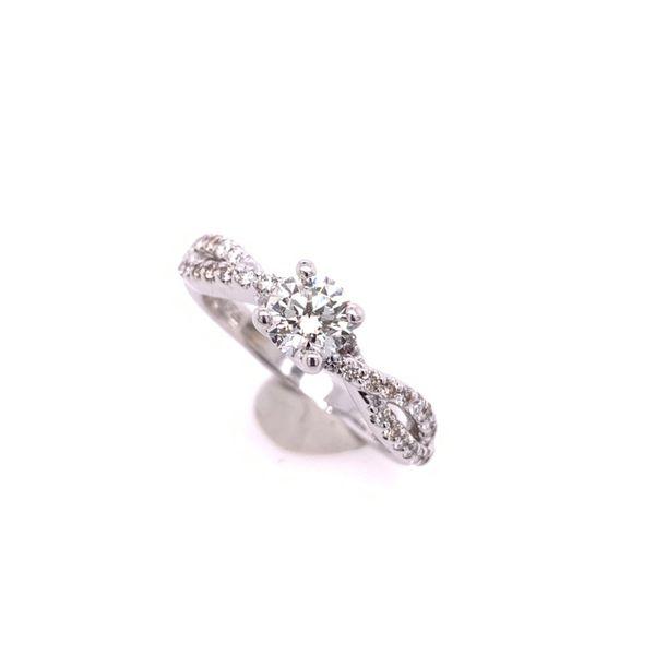 Diamond Twist Band Engagement Ring Arthur's Jewelry Bedford, VA