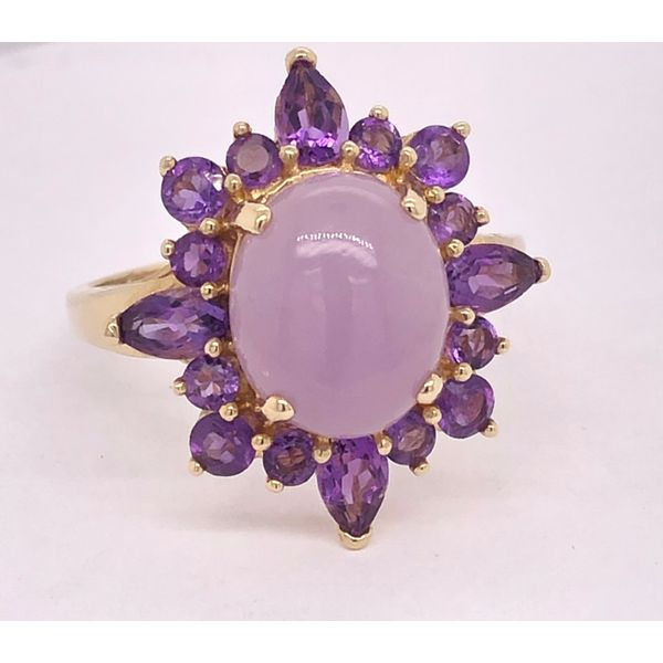 Lavender Jade and Amethyst Ring Arthur's Jewelry Bedford, VA