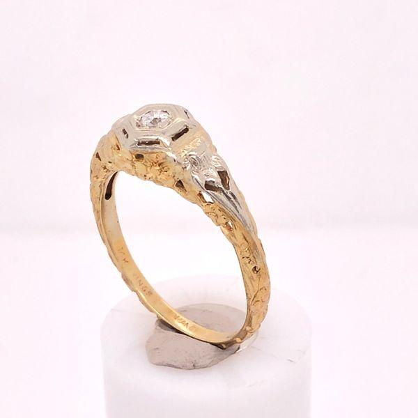 European Diamond Filigree Ring Arthur's Jewelry Bedford, VA