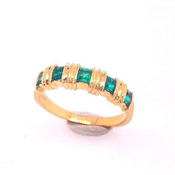 Lab Grown Emerald Bar Ring Arthur's Jewelry Bedford, VA