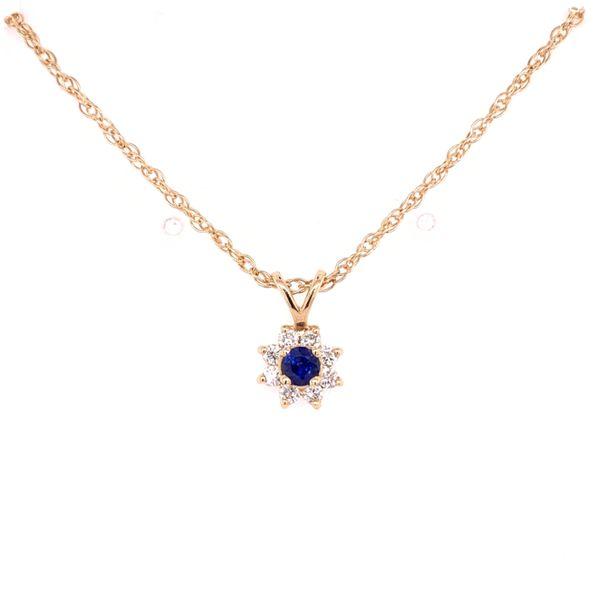Sapphire and Diamond Pendant Arthur's Jewelry Bedford, VA