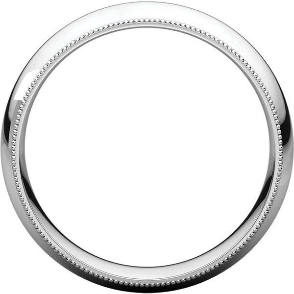 6mm Comfort Fit Half Round Milgrain Edge Band Image 2 Becky Beauchine Kulka Diamonds and Fine Jewelry Okemos, MI