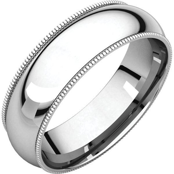 6mm Comfort Fit Half Round Milgrain Edge Band Becky Beauchine Kulka Diamonds and Fine Jewelry Okemos, MI