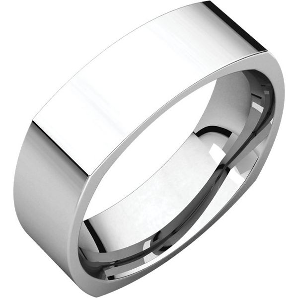 6mm Comfort Fit Square Band Becky Beauchine Kulka Diamonds and Fine Jewelry Okemos, MI