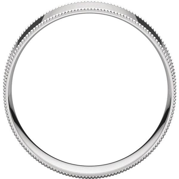 6mm Comfort Fit Flat Milgrain Edge Band Image 2 Becky Beauchine Kulka Diamonds & Fine Jewelry Okemos, MI