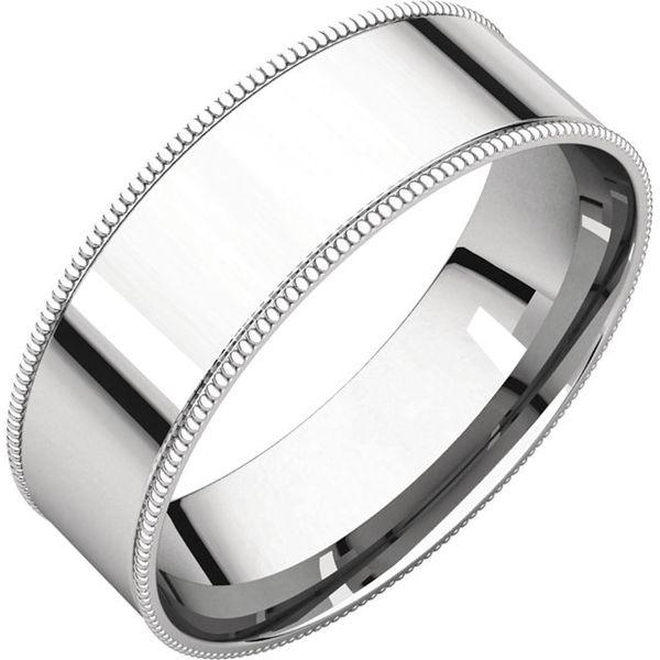 6mm Comfort Fit Flat Milgrain Edge Band Becky Beauchine Kulka Diamonds and Fine Jewelry Okemos, MI