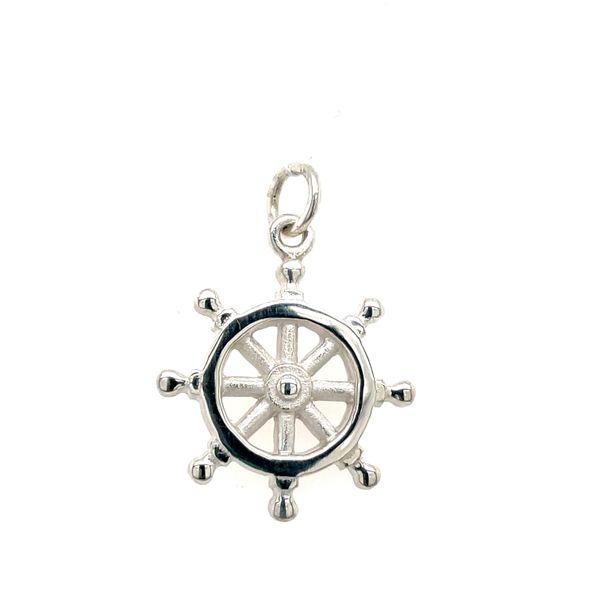 Ship's Wheel Charm Blue Heron Jewelry Company Poulsbo, WA