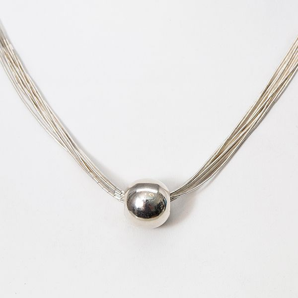 Handmade Sterling Silver 10 Strand and Bead Fashion Necklace Brummitt Jewelry Design Studio LLC Raleigh, NC