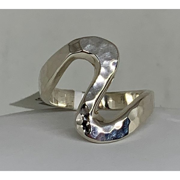 Hand Smithed Sterling Silver Ring Image 2 Brummitt Jewelry Design Studio LLC Raleigh, NC