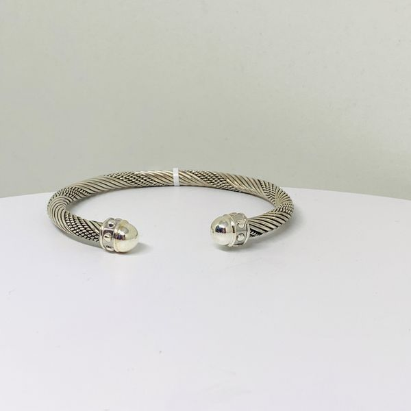 Handmade in Taxco Mexico Artisan Sterling Cable Cuff Brummitt Jewelry Design Studio LLC Raleigh, NC