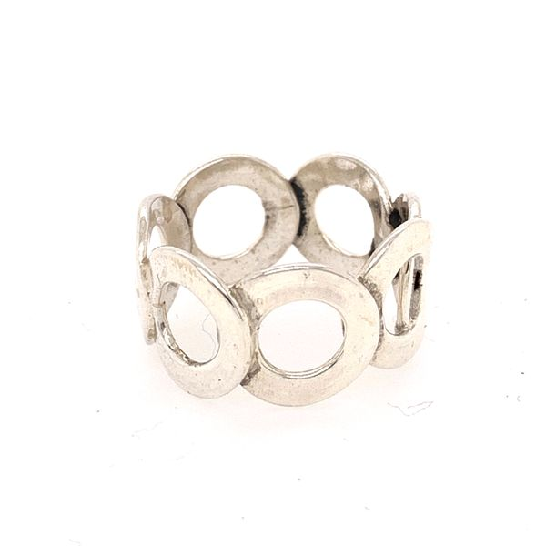 Handmade Taxco Sterling Silver Open Circles Ring Brummitt Jewelry Design Studio LLC Raleigh, NC