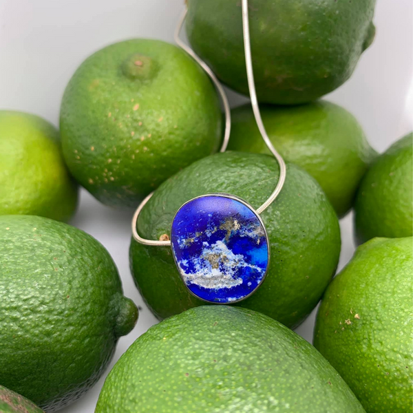 Made in Taxco Sterling Silver Lapis Necklace Brummitt Jewelry Design Studio LLC Raleigh, NC