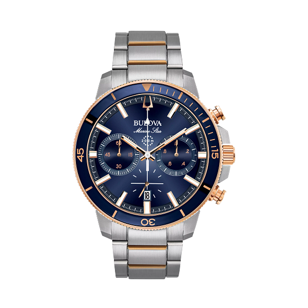 Bulova Marine Star 98B301 with Blue Dial & Rose-Gold  Carroll / Ochs Jewelers Monroe, MI