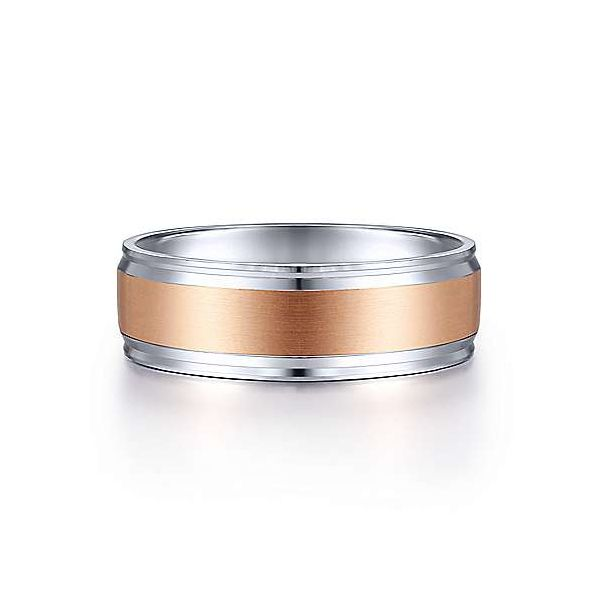 Gabriel Two Tone Satin Center Mens Wedding Band Carter's Jewelry, Inc. Petal, MS