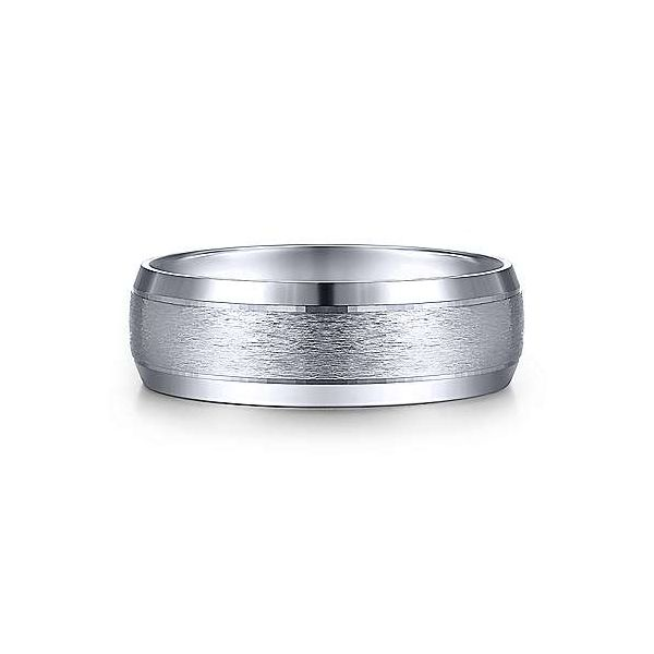 Robert Rounded Satin Center and Beveled Edge Mens Wedding Band Carter's Jewelry, Inc. Petal, MS