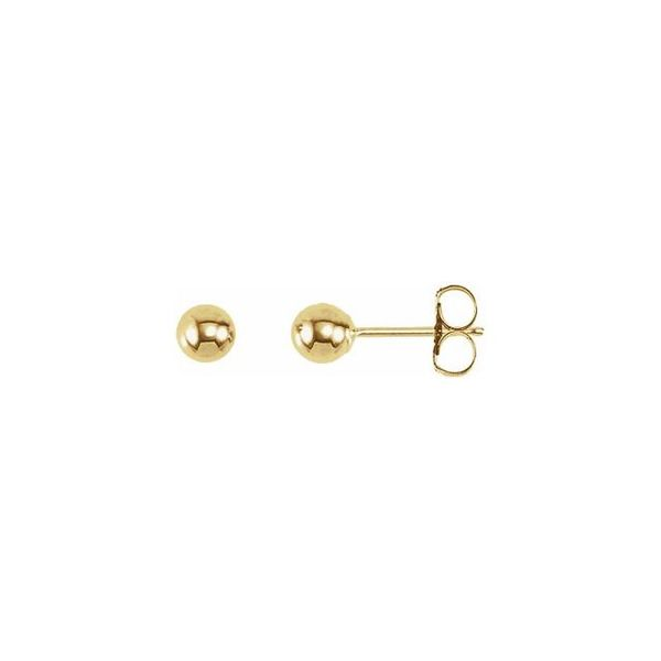 Gold Ball Stud Earrings Carter's Jewelry, Inc. Petal, MS