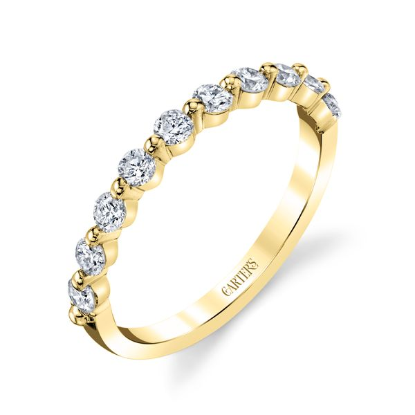 Orchid Shared Prong Diamond Band Image 2 Carter's Jewelry, Inc. Petal, MS