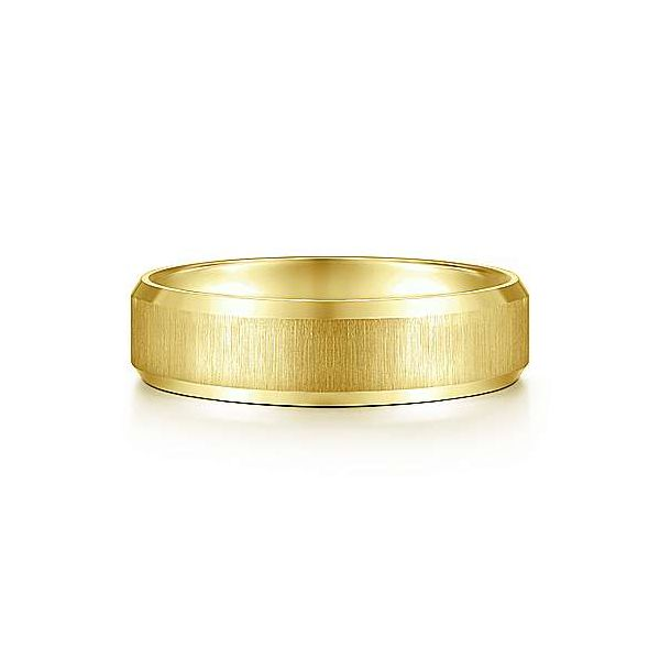 Isaiah Sandblast Center and Beveled Edge Mens Wedding Band Carter's Jewelry, Inc. Petal, MS